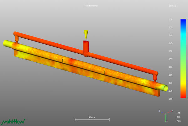 Plastic filling simulation has contributed significantly to improving injection molding results.