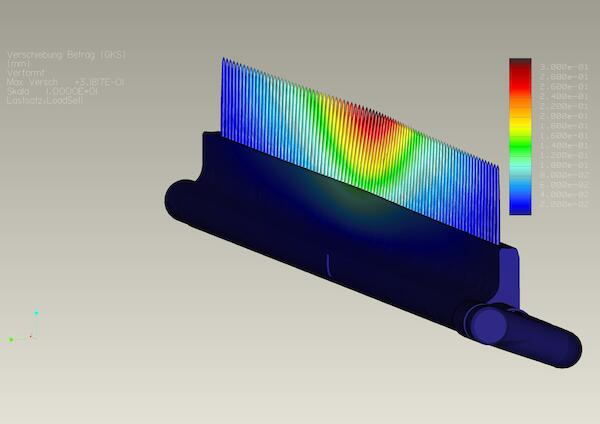 FEM simulation of the load situation has secured the dimensioning of the construction.
